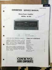 Onkyo M-504 Amplifier Service Manual *Original*