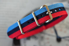 Quality 20mm Watch Strap BMW Beemer Racing Colors Exciting Band With 316 Steel
