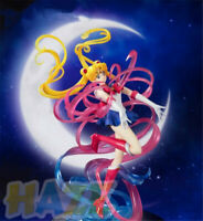 "Cute Sailor Moon Tsukino Transformed Scene 10"" PVC Figure Model Toy Hot"