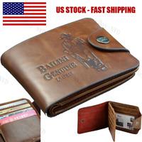 Men's Boys Leather Pockets Credit/ID Cards Holder Purse Wallet