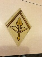 One old small victorian hand painted piece of glass spares/repairs