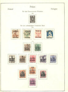 Poland, old stamp collection on page 1