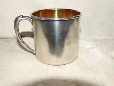Vintage Oneida Silversmiths USA Silverplate Baby Child's Mug Gold Wash Interior