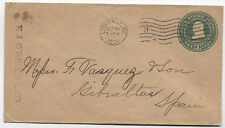 1904 1 cent stamped envelope Louisville KY to Gibraltar! [1258]