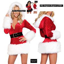 Vestito Donna Costume Babbo Natale Cosplay Hostess Christmas dresses HOS031