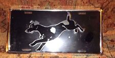New Equestrian Licence Plate Metal Jack Russell