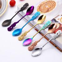 Creative Flower Shape Tea Spoons Stainless Steel Teaspoon Tableware Kitchen Tool