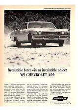 1965 Chevrolet Impala Super Sport 409 / 340-Hp Or 400-Hp ~ Original Print Ad