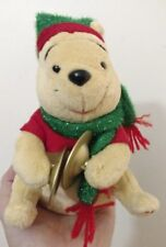 DISNEY WINNIE XMAS SINGING DOLL CHRISTMAS DRUMMER DRUM ELECTRONIC PLUSH THE POOH