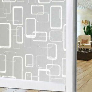 Privacy Window Film, Self-Adhesive Frosted For Bathroom Shower Door Office Home