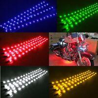 8x Waterproof 12''/15 DC 12V Motor LED Strip Underbody Light For Car Motorcycle