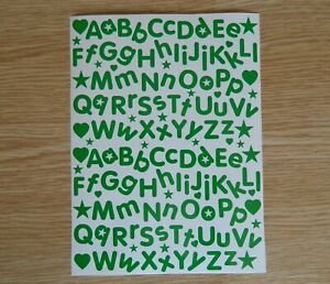 1.5 2 3 or 4cm Sticky Back Vinyl Letters Alphabet Peel & Stick label party stars