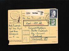 Germany Hitler Head 5&80p Bad Ems Parcel Card Complete 1944 6y