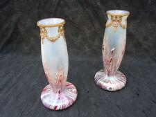 Vase verre irisé d'époque Art Nouveau glass Kralik Wilhelm glass paire de vases