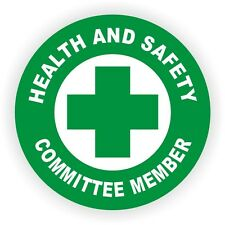 Health and Safety Committee Member Hard Hat Decal / Helmet Sticker Label Vinyl