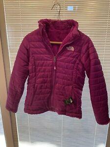 Girls Reversible Northface Coat Purple Size 14/16