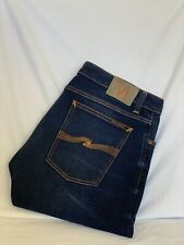 Nudie Jeans SKINNY LIN Distressed Organic Denim Jeans Mens W36 L30 (N1820)
