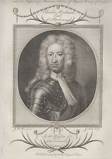 1784 Fine Folio Engraved Portrait - Charles Mordaunt, 3rd. Earl of Peterborough