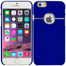 For iPhone 6 Plus (5.5) Hard Slim Deluxe Chrome Rear Cover Case Matte Blue