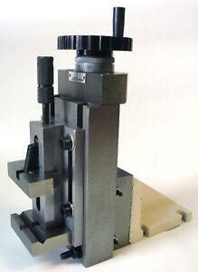 "Lathe Milling Attachment Precision Vertical Slide + 2"" Quick Vise + Mount New"
