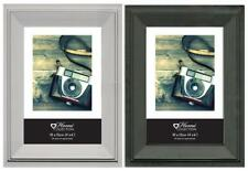 "MONACO BLACK & SILVER BEVELED A4 4X6 5X7 8X10"""""" PICTURE PHOTO FRAME ART HOME"