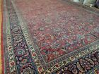 14x20 RARE OVERsize Antique Palace Mashaad style Oriental Area Rug red navy