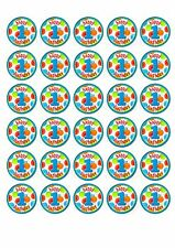 30 x Edible Cake Decorations 1st Birthday Boys Cupcake Toppers First Party