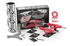 Enuff Decade Pro Roulettes Skateboard Kit Rouge/Noir Grip/Roues/Roulement/Outil