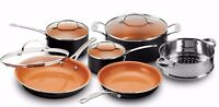 Gotham Steel 10 Piece Nonstick Ceramic Coating Cookware Set - Graphite