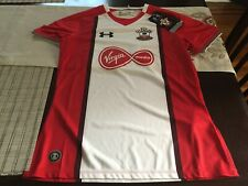 Womens Under Armour Football/Soccer Jersey Southhampton FC Red/white SMALL S NWT
