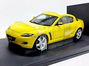 AUTOart Mazda RX-8 Coupe in Yellow *RARE* 1:18 Scale - New