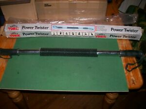 YORK BARBELL COMPANY POWER TWISTER FITNESS TENSION  SPRING BAR.MUSCLE BUILDING.