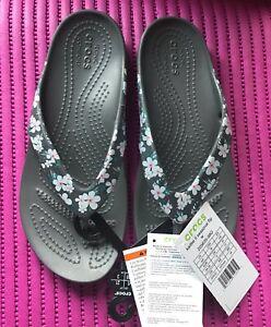 Crocs Womens Kadee II Seasonal Graphic Flip Sz 5 NWT!