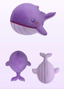 Cute KPOP BANGTAN BOYS Dreamy Purple Whale TINYTAN Friends Pillow Doll