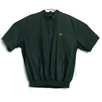 Masters Collection Dark Green Embroidered Windbreaker Shirt Jacket Golf Pullover