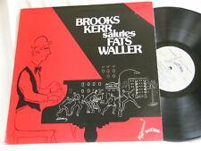 BROOKS KERR Salutes Fats Waller George Duvivier SONNY GREER LP