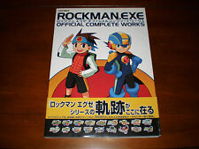 Rockman EXE Official Complete Works Art Book Obi Strip First Print Rare Megaman
