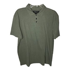 NWT The Men's Store Bloomingdales Linen Cotton Blend Polo Shirt Size Large
