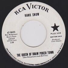 HANK SNOW {60s Honky Tonk} QUEEN OF DRAW POKER / TEARS IN THE TRADE ♫hear promo