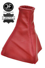 RED REAL LEATHER MANUAL GEAR BOOT LEATHER COVER FITS HOLDEN VECTRA ZC 02-08