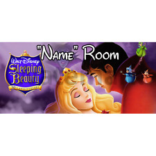 Disney Sleeping Beauty Personalised Bedroom Door Sign - Any Text (2)