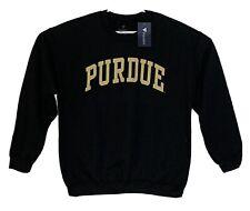NWT Purdue Boilermakers Black Crewneck Sweatshirt Mens L