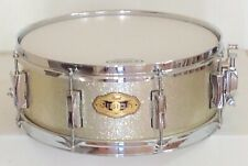 """Pearl Vision Series 5.5""""x14"""" Silver Sparkle Snare Drum"""