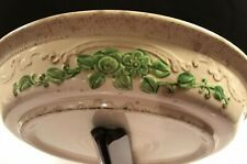 Vintage Green Homer Laughlin Embossed Pie Plate - Oven Serve USA stoneware