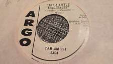Tab Smith 45 Try a Little Tenderness/Don't Play with Love Promo Northern Soul