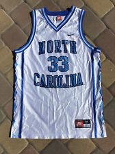 Vtg Nike Team North Carolina Tar Heels Antawn Jamison 33 Home Jersey White Mens