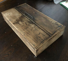 More details for antique lidded butlers cutlery box