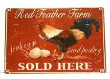 Farm Fresh Eggs Tin Poster Sign Vintage Style Country Kitchen Home Market Shop 2