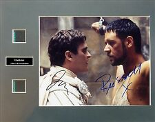 Gladiator Signed Photo Film Cell Presentation