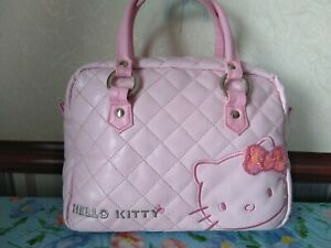 Hello Kitty Pink Quilted Bowling Bag with a Bag Charm